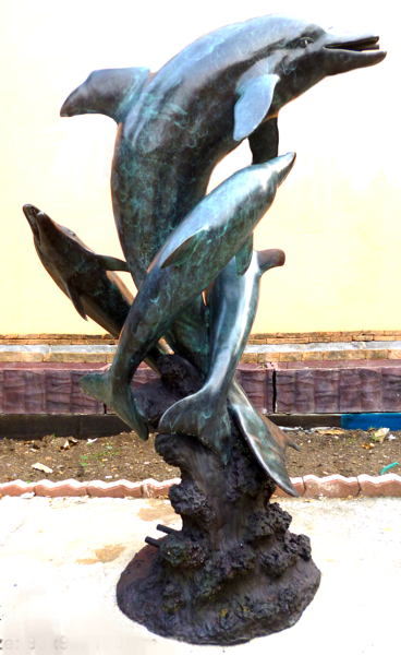 Bronze Dolphin Fountains - DK 1893A