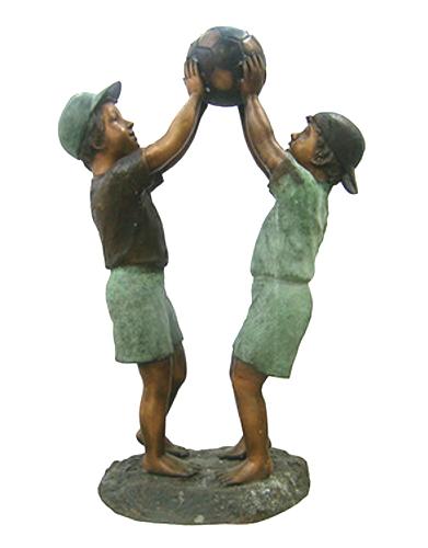 Bronze Boys Basketball Statue - DK 1986