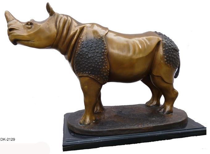 Bronze Rhinoceros Statues - DK 2129