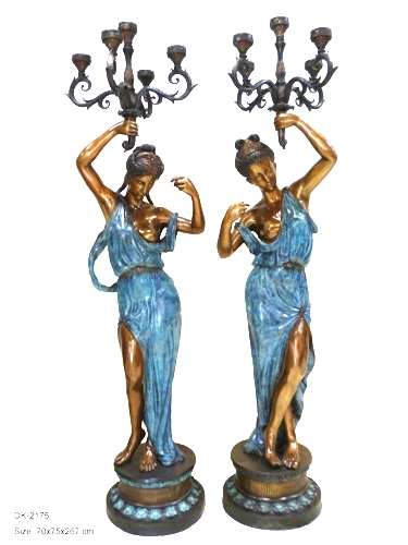 Bronze Ladies Torchiere Lighting - DK 2175