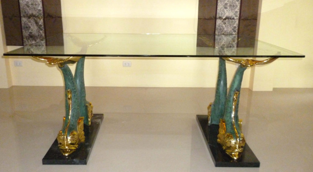 Bronze Fish Dining Room Table - DK 2292