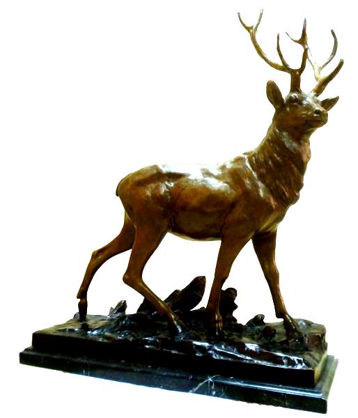 Bronze Deer Buck Statues - DK 2365