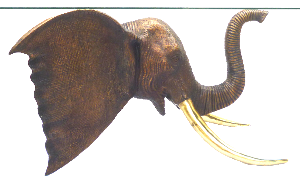Bronze Elephant Table - DK 2384