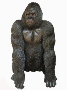 Bronze Silverback Gorilla Statue