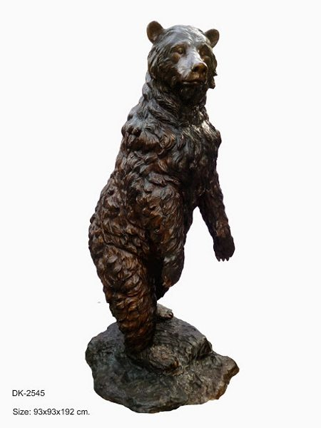 Bronze Bear on Base Statue - DK 2545