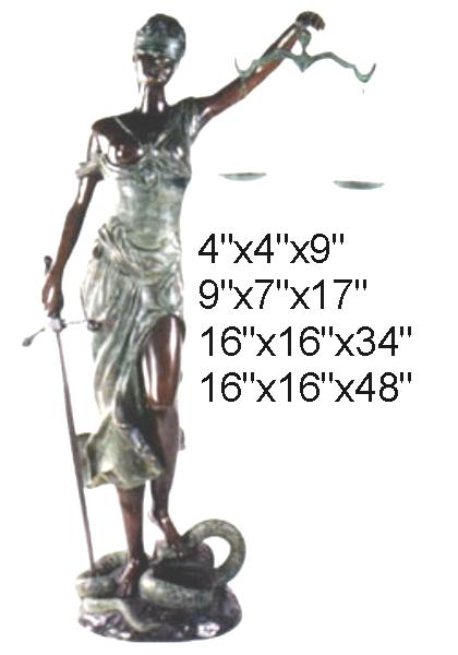 Bronze Blind Justice Statue - DD E-027