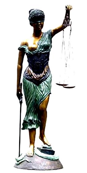 Bronze Blind Justice Statue - DD E-146