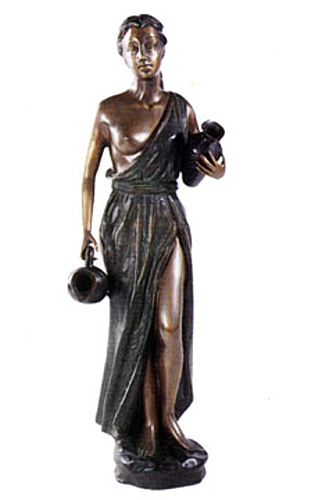 Bronze Lady Urn Fountain