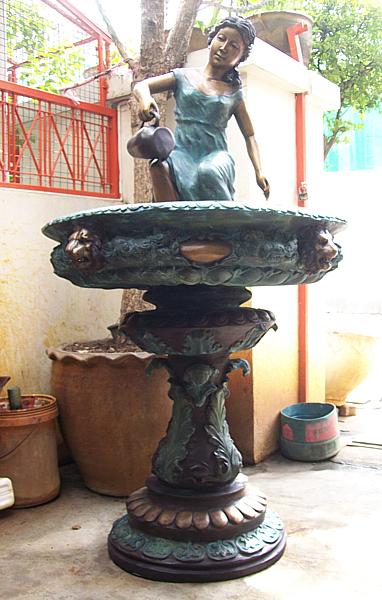 Bronze Lady Bowl Fountain - DD F-016
