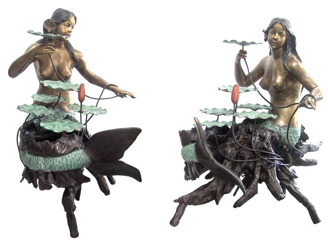 Bronze Mermaid Statues - DD F-061-S