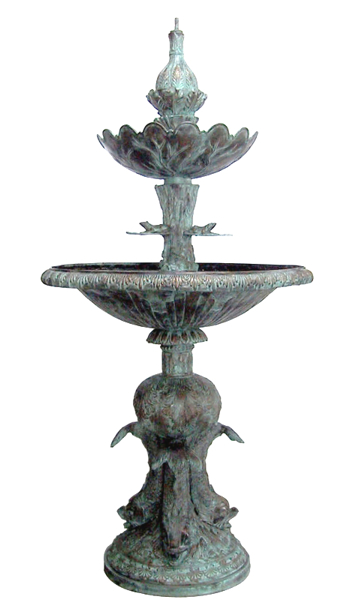 Bronze Frog Fountain - DD F-063