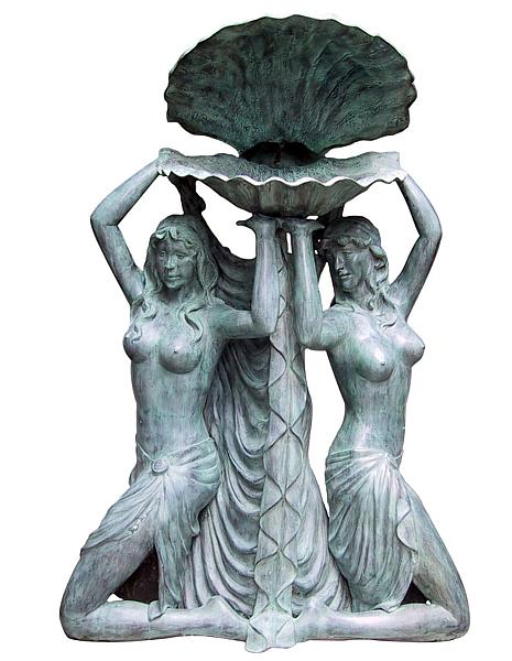 Bronze Ladies Shell Fountain - DD F-066
