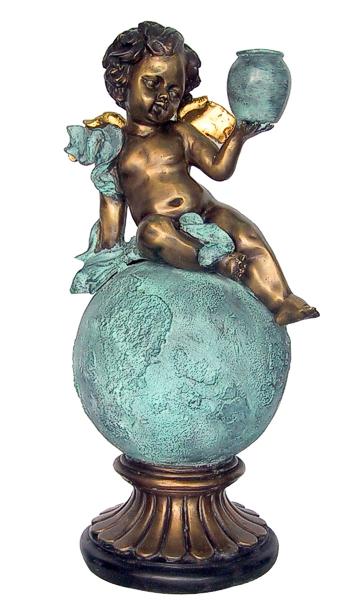 Bronze Cupid on Earth Fountain - DD F-082