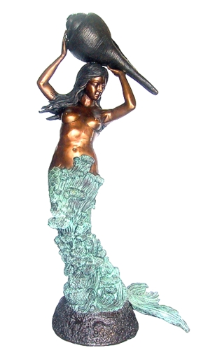 Bronze Mermaid Fountains & Statues - DD 098