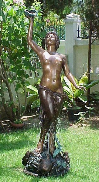 Bronze Nude & Shell Fountain - PA F-1001