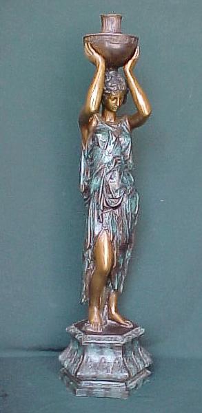 Bronze Lady Urn Statue - PA F-1003