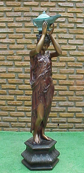 Bronze Girl Magic Lantern Fountain - PA F-1003A