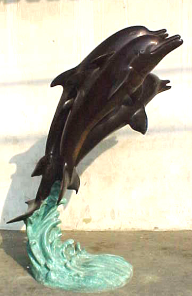 Bronze Dolphin Fountains - PA F-1010
