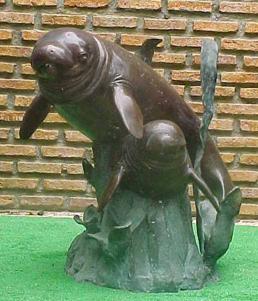 Bronze Manatee Fountains - PA F-1019