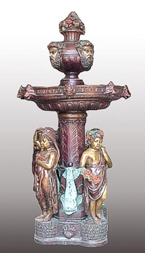 Bronze Children Fountain - PA F-1051