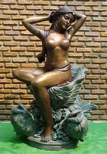 Bronze Nude Lady Fountain - PA F-1059