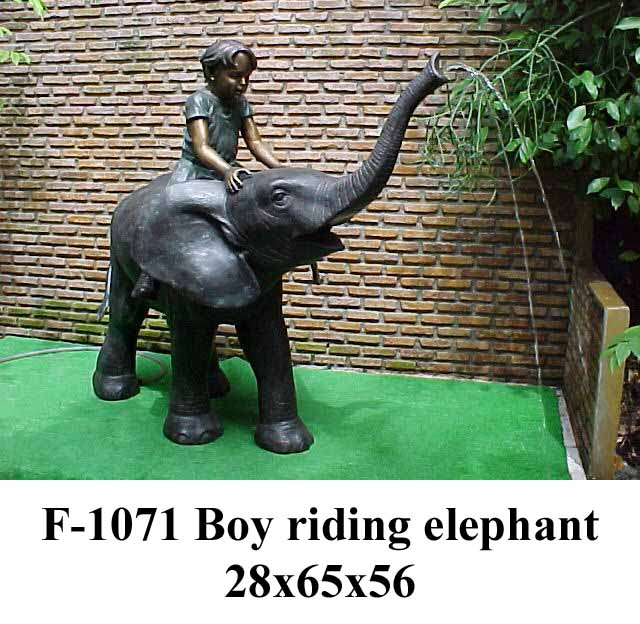 Bronze Elephant Fountain - PA F-1071-F