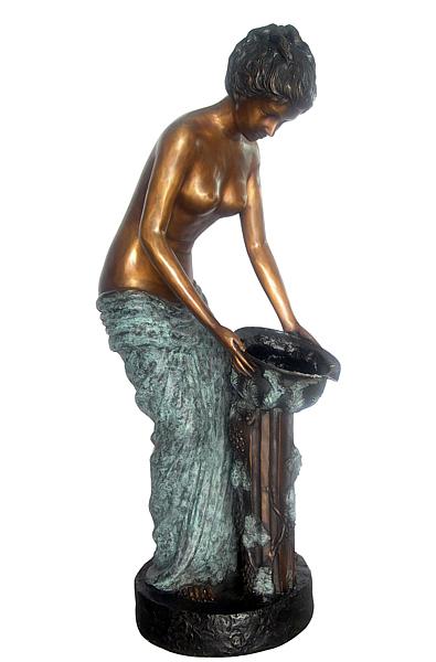 Bronze Lady Fountain - DD F-109