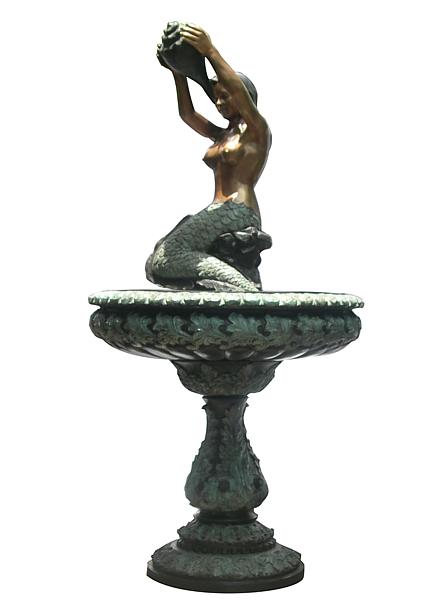 Mermaid Conch Shell Bowl Fountain - DD F-114