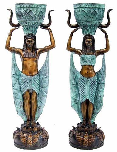 Bronze Egyptian Urns - CP FG0198