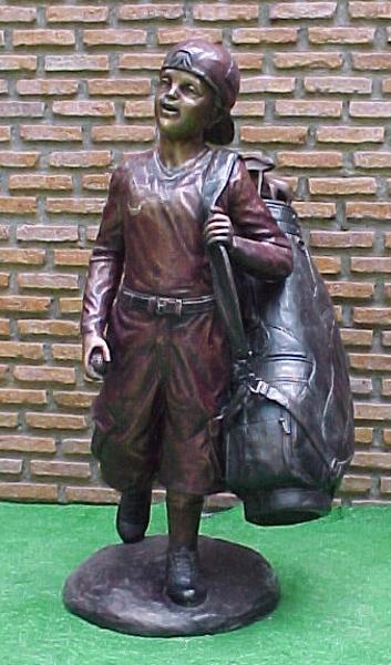 Bronze Caddie Lantern Statue - PA G-1030