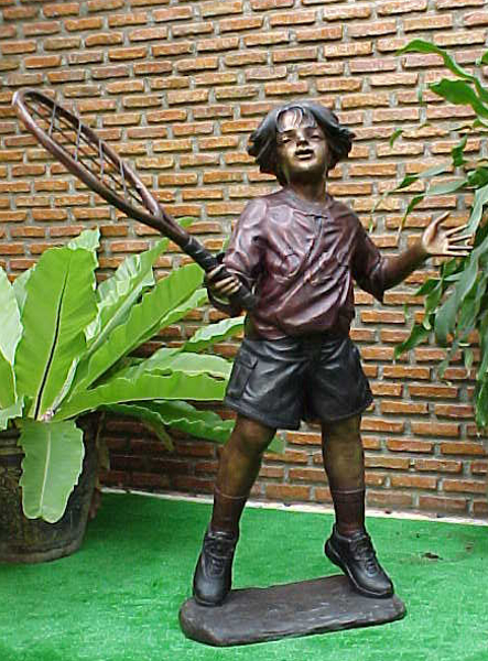 Bronze Boy Tennis Player Statues - PA G-1038