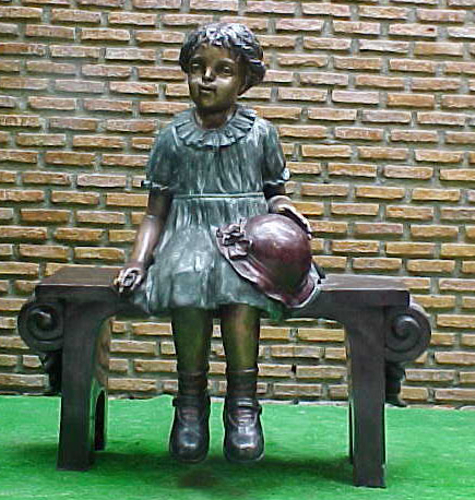 Bronze Child on Bench - PA G-1043