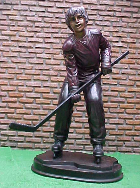 Bronze Boy Ice Hockey Statue - PA G-1048