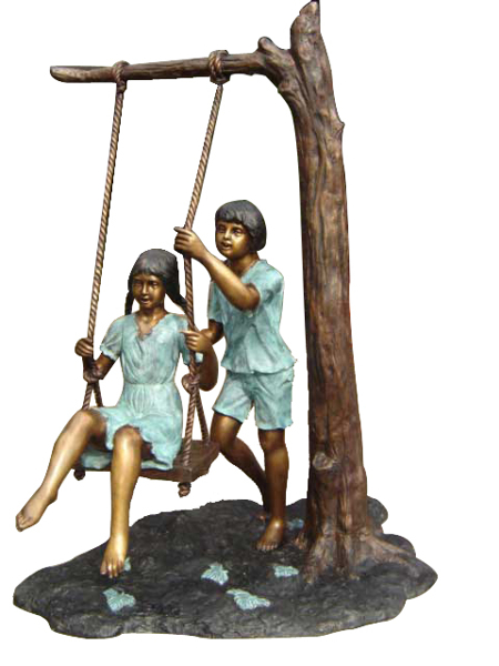 Bronze Children Statues - DD G-074