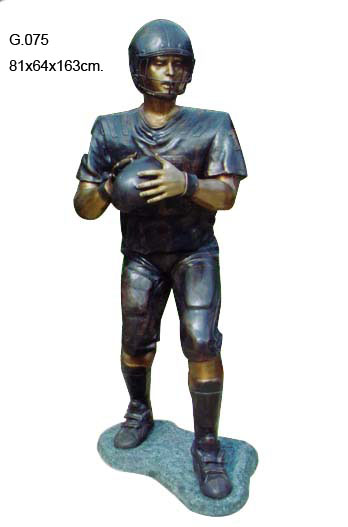 Bronze Football Player Statues - DD G-075
