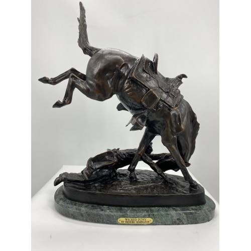 Bronze Remington Wicked Pony Statue (Prices Here) - ASB 006