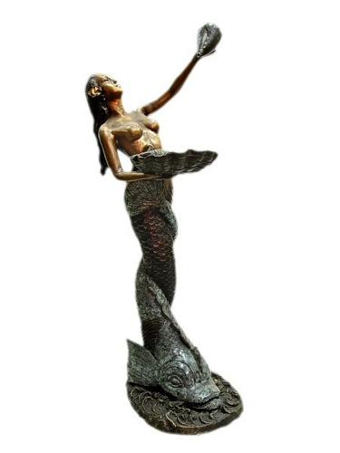 Bronze Mermaid Statue - KT J-8088-S