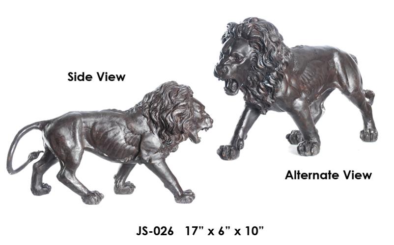 Bronze Lion Statue - ASI JS-026