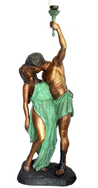 Grecian Lady & Man Torchiere - DD L-044