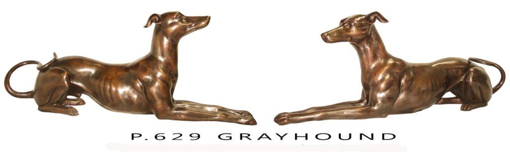 Bronze Greyhound Statues - KT P-629