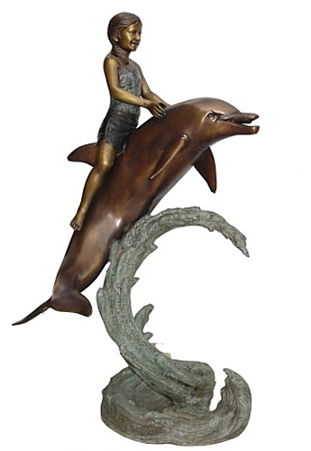 Bronze Dolphin Fountains - KT P-815