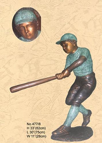 Bronze Baseball Batter Statue - KT 477/8