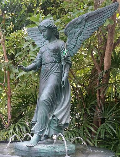 Bronze Angel Fountain Statue - PA S-1094