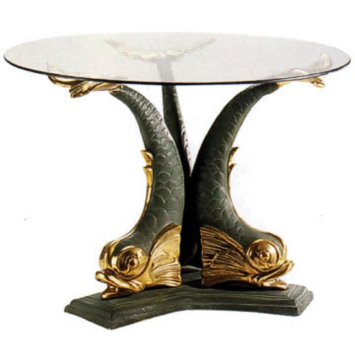 Bronze Fish End Table - DD T-033L