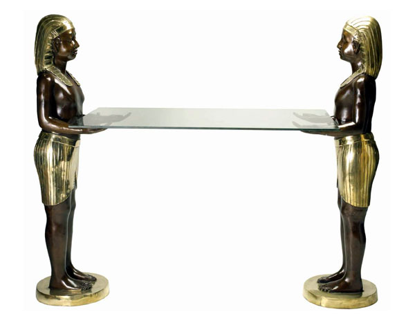 Bronze Egyptian Console Table - DD T-044