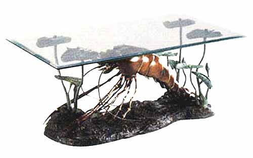 Bronze Lobster Table - DK TB0111