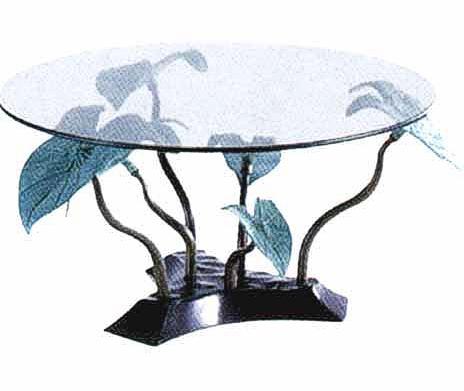 Bronze Leaf Table - DK TB0112