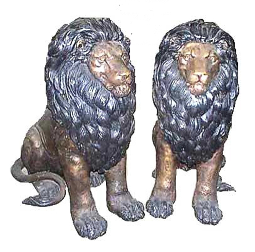 Bronze Lion Statues - ASI TF3-128