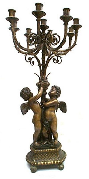 Bronze Cherub Candelabra or Torchiere Light - ASI TF4-195