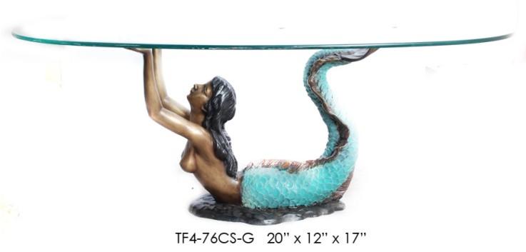 Bronze Mermaid Tables - ASI TF4-76CS